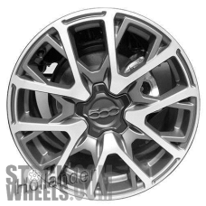 Picture of Fiat 500X (2016-2018) 18x7 Aluminum Alloy Black with Charcoal 10 V Spoke [61681]
