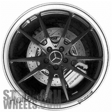 Picture of Mercedes GT (2018-2019) 19x10 Aluminum Alloy Black with Silver Edge 5 Double Spoke [85587]