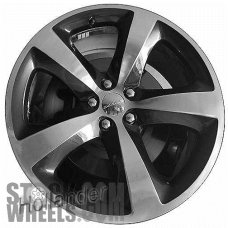 Picture of Dodge CHALLENGER (2013-2014) 20x8 Aluminum Alloy Polished with Black 5 Spoke [02618]