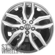 Picture of Scion TC (2014-2016) 18x7.5 Aluminum Alloy Chrome 5 Double Spoke [75160]
