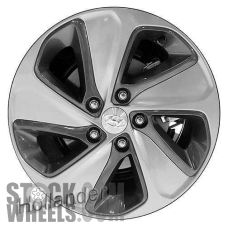 Picture of Hyundai SONATA (2016-2017) 17x7 Aluminum Alloy Chrome with Charcoal Inserts (for use with TPMS Sensor) 5 Spoke [70886A]