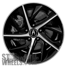 Picture of Acura ILX (2019) 17x7 Aluminum Alloy Machined with Black 10 Spoke [71859]