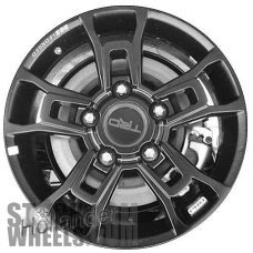Picture of Toyota TUNDRA (2018-2019) 18x8 Aluminum Alloy Black 5 Double Spoke [75238]