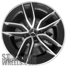 Picture of Mercedes CLS-CLASS (2019) 20x9 Aluminum Alloy Machined with Grey 5 V Spoke [85679]