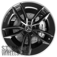 Picture of Mercedes CLS-CLASS (2019-2020) 20x8 Aluminum Alloy Black with Machined Edge 5 V Spoke [85680]