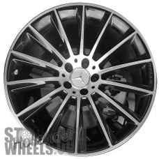 Picture of Mercedes CLS-CLASS (2019-2020) 20x9 Aluminum Alloy Machined with Black 14 Spoke [85683]