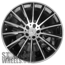 Picture of Mercedes CLS-CLASS (2019-2020) 20x8 Aluminum Alloy Machined with Grey 14 Spoke [85684]