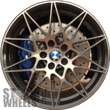 Picture of BMW M3 (2018) 20x10 Aluminum Alloy Polished with Black 10 Double Spoke [86378A]