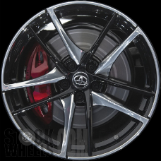 Picture of Toyota SUPRA (2020) 19x10 Aluminum Alloy Polished with Black 5 Double Spoke [75257B]