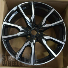 Picture of BMW X7 (2019-2020) 22x9.5 Aluminum Alloy Machined with Black 5 V Spoke [86535A]